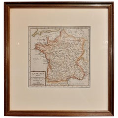 Antique Map of France by Vaugondy, circa 1750