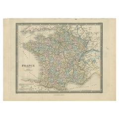 Antique Map of France in Departments by Wyld '1845'