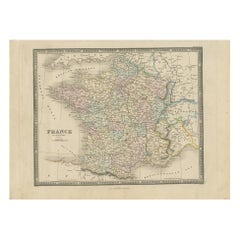 Antique Map of France in Provinces by Wyld, '1845'