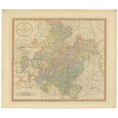 Antique Map of Franconia by Cary '1811'