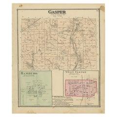 Antique Map of Gasper, Hamburg and West Elkton, 1871