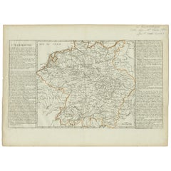 Antique Map of Germany by Clouet, 1787