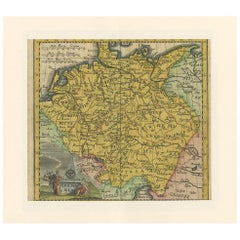 Antique Map of Germany by Hederichs 'circa 1740'