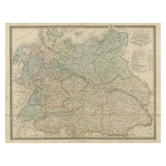 Antique Map of Germany with the Empire of Austria by Wyld '1845'