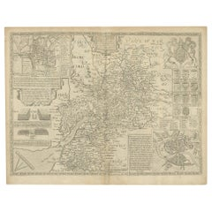 Antique Map of Gloucestershire by John Speed, '1676'