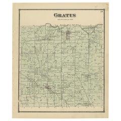 Antique Map of Gratis 'Ohio' by Titus '1871'