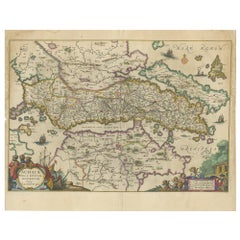 Antique Map of Greece by Janssonius 'circa 1662'