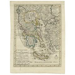 Antique Map of Greece by Keizer & de Lat, 1788