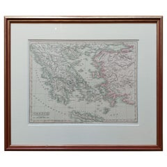 Antique Map of Greece by Smith '1818'