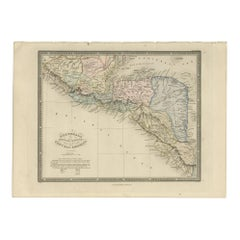 Antique Map of Guatemala by Wyld '1845'