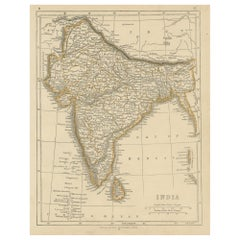 Antique Map of India by Lowry '1852'