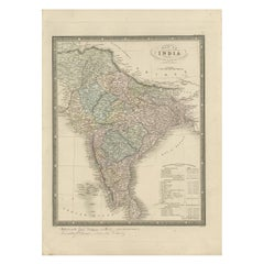 Antique Map of India by Wyld '1845'