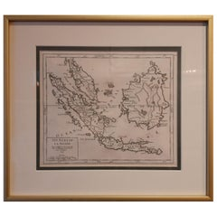 Antique Map of Indonesia and Malaysia by Vaugondy, 1749