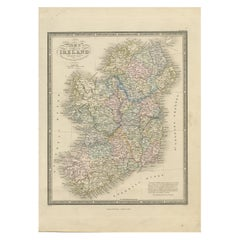 Antique Map of Ireland by Wyld '1845'
