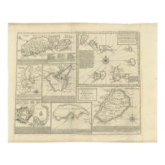 Antique Map of Islands in the Mediterranean by Bowen, 'c.1760'