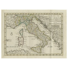 Antique Map of Italy by Keizer & de Lat, 1788