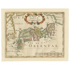 Antique Map of Japan and Korea by Sanson, 'c.1690'