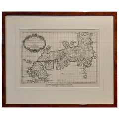 Antique Map of Japan by Van Schley, '1756'