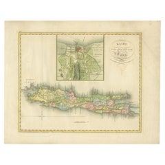 Antique Map of Java and Batavia by Van den Bosch, '1818'