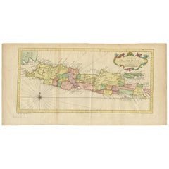 Antique Map of Java by Bellin, circa 1760