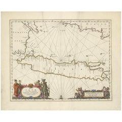 Antique Map of Java by Janssonius, circa 1650