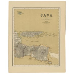 Antique Map of Java in 4 sheets by Dornseiffen, 1884