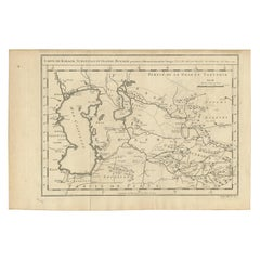 Antique Map of Khwarezm, Turkestan and Great Bukhara by Bellin, '1749'