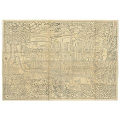 Antique Map of Kyoto 'Japan' Published in 1833