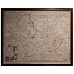 Antique Map of Leicester and Rutland by Tinney & Sayer, 'circa 1756'