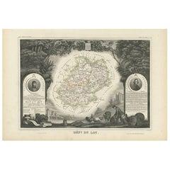 Antique Map of Lot 'France' by V. Levasseur, 1854