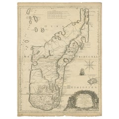 Antique Map of Madagascar by Mariette 'c.1670'