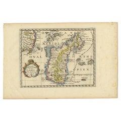 Antique Map of Madagascar by N. Sanson, circa 1680