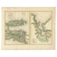 Antique Map of Madura and Surabaya by Van den Bosch, '1818'