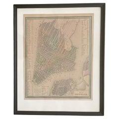 Antique Map of Manhattan, New York City by Thomas Cowperthwait & Co. 1850