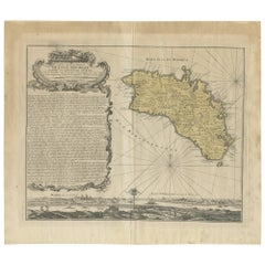 Antique Map of Menorca / Minorca by Homann Heirs '1757'