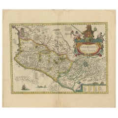 Antique Map of Mexico by Janssonius 'circa 1640'
