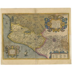 Antique Map of Mexico by Ortelius, circa 1602