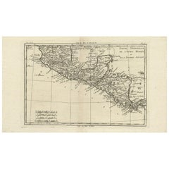Antique Map of Mexico by R. Bonne, circa 1780