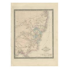 Antique Map of New South Wales 'Australia' by Wyld '1845'