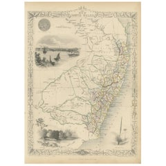 Antique Map of New South Wales by Tallis, circa 1851