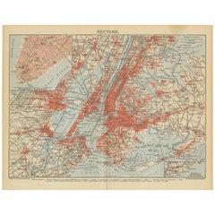 Antique Map of New York 'circa 1855'