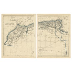 Antique Map of North Africa by Lowry '1852'