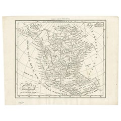 Antique Map of North America by Dufour 'circa 1834'