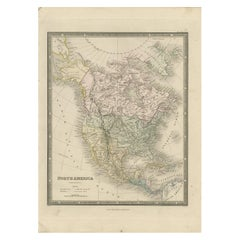 Antique Map of North America by Wyld '1845'