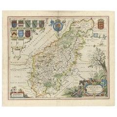 Antique Map of Northamptonshire by Blaeu '1659'