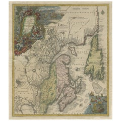 Antique Map of Northeastern Canada by Lotter 'circa 1760'