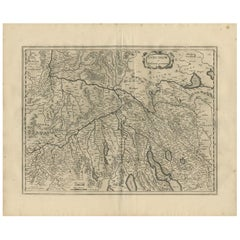 Antique Map of Northern Switzerland by Janssonius '1657'