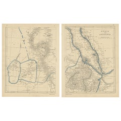 Antique Map of Nubia and Abyssina by Lowry, 1852