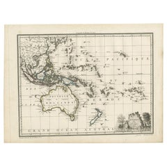 Antique Map of Oceania by Malte-Brun, 1812