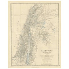 Antique Map of Palestine by A.K. Johnston, 1865
